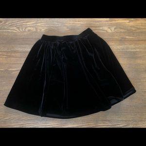 American Apparel Velvet Skater Skirt